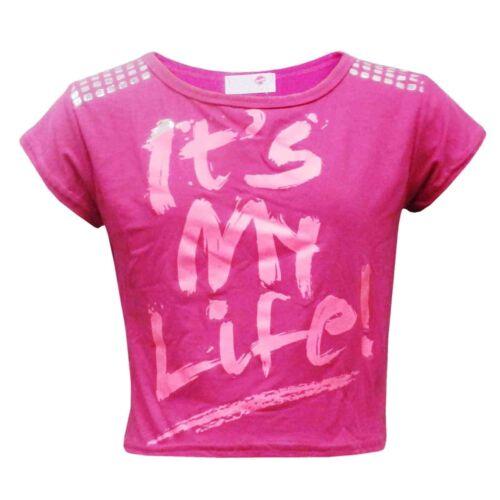"""Bambine nuova stagione /""""è la mia vita!/"""" stampato CROP TOP T SHIRT 2-13 anni"""