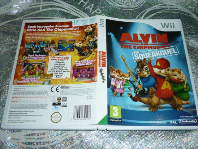 ALVIN AND THE CHIPMUNKS THE SQUEAKQUEL (NINTENDO WII GAME, G) (147762 A)
