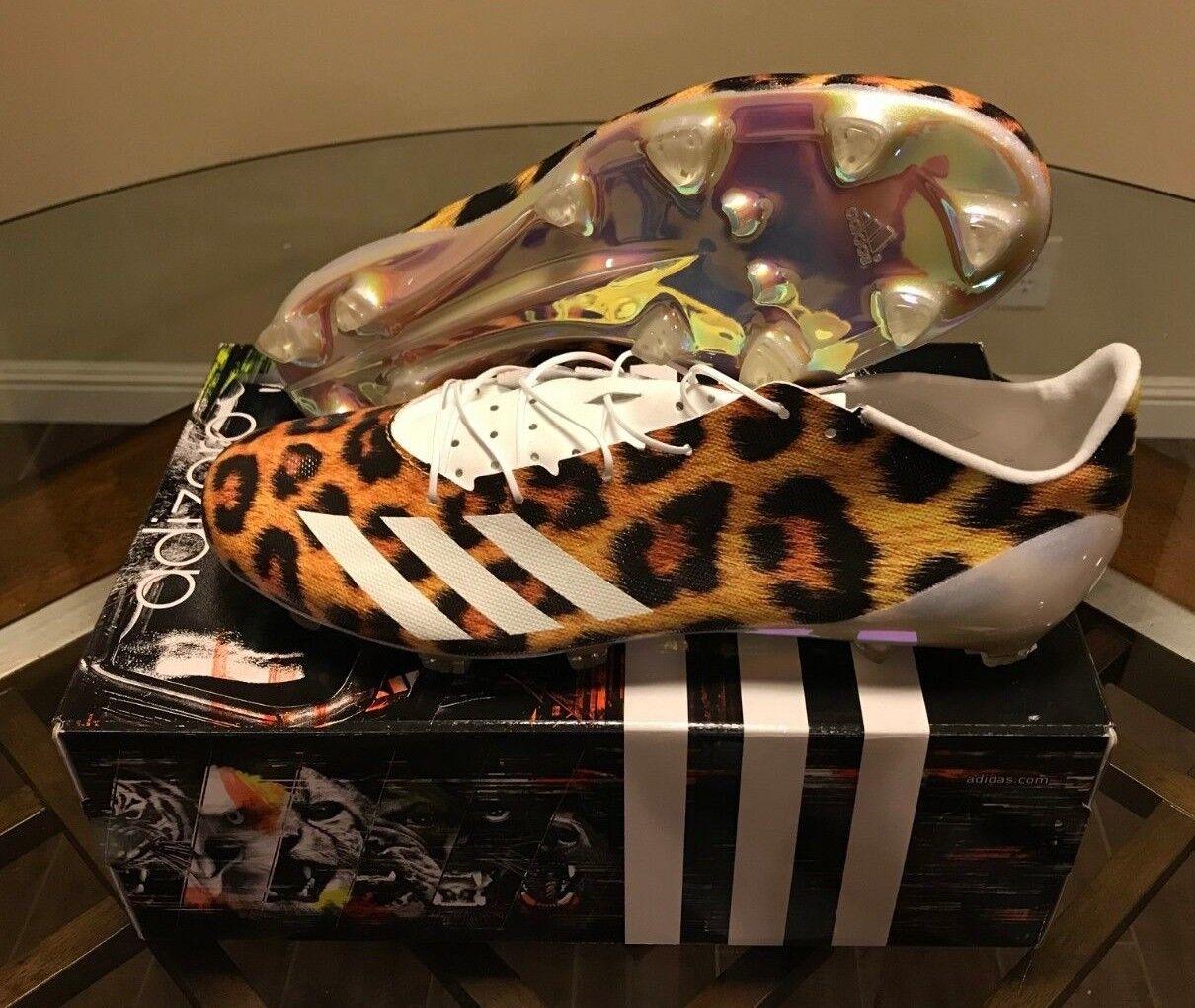 RARE NIB Adidas Adizero 5-Star 40 Uncaged Football Cleats Leopard B42459 Sz 13.5