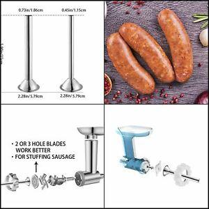 Sausage Stuffer Kit Attachment Stuffing Tubes for Kitchenaid Food Grinder 2PCS