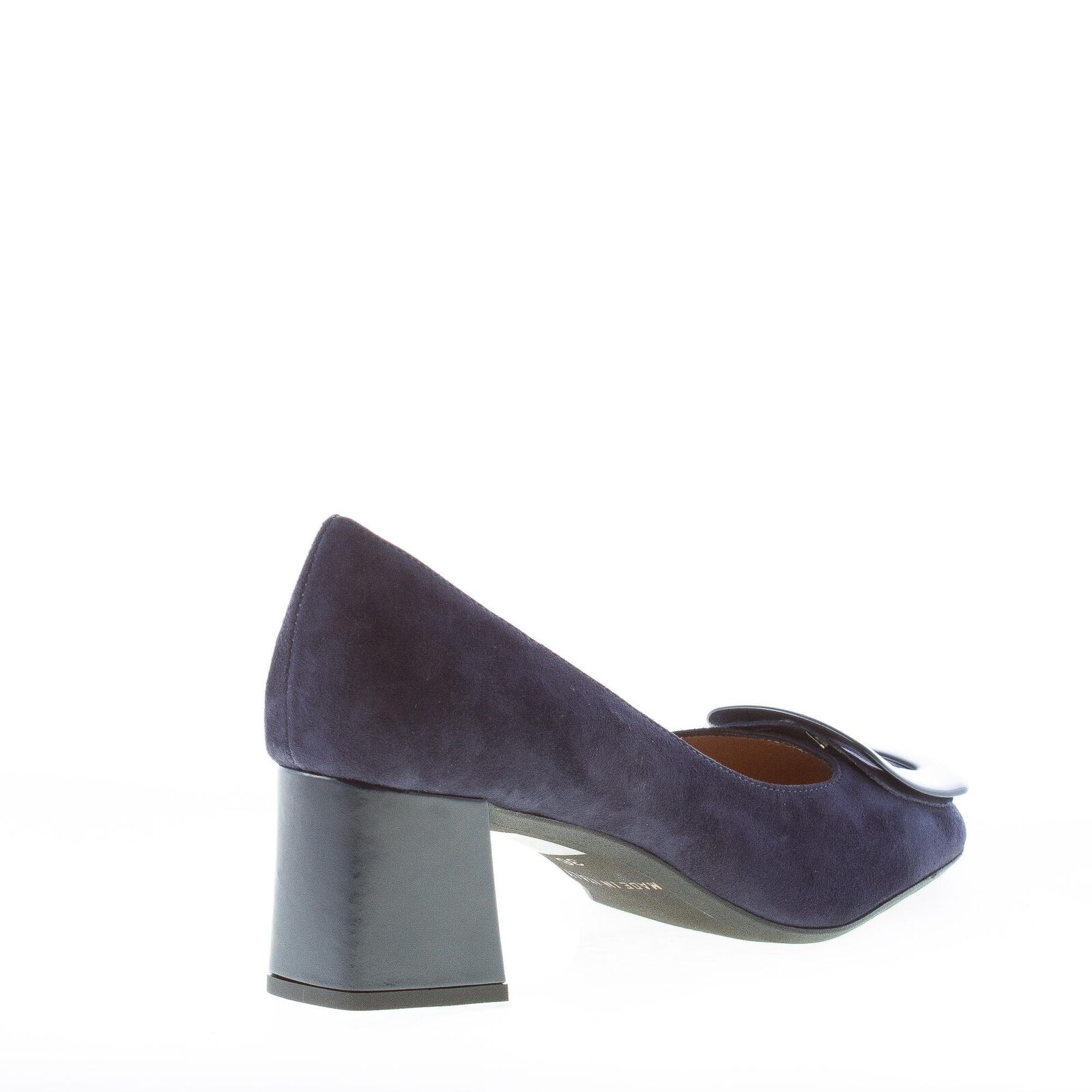 IL BORGO FIRENZE damen schuhe made made made in Italy Blue suede pump with navy buckle 079dd4