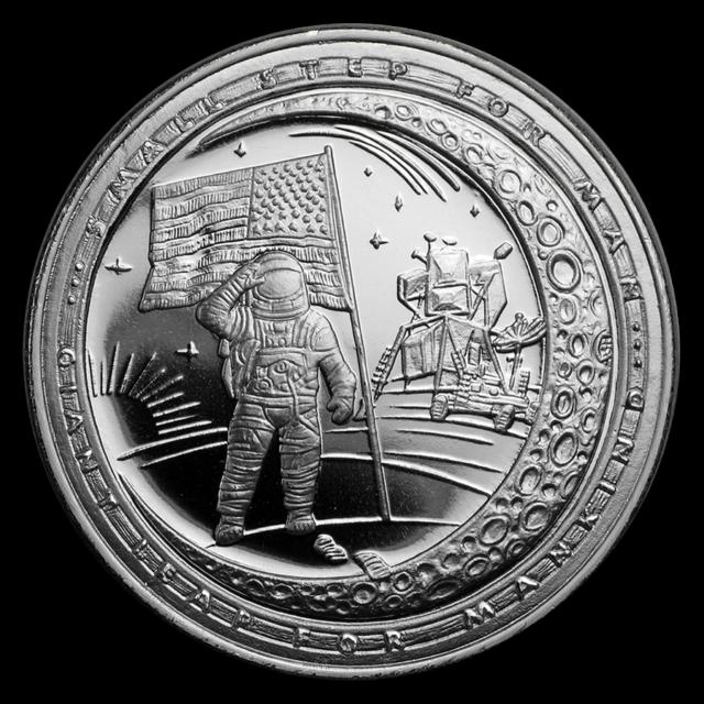 2019 Apollo 11 Series ONE SMALL STEP 50th Anniversary 1oz Silver Coin #3
