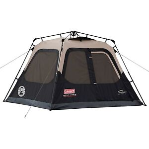 Coleman Instant Cabin Tent 4 Person Camping Family Easy Set Up Quick Setup Tent