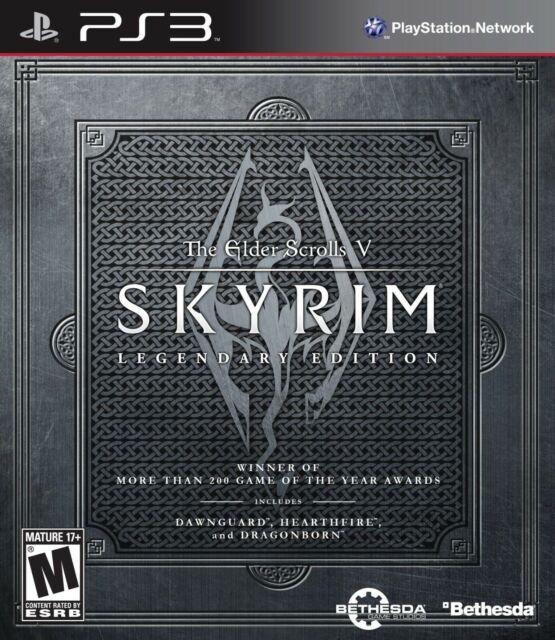 The Elder Scrolls V Skyrim Legendary Edition ps3 Playstation 3 Videospiel