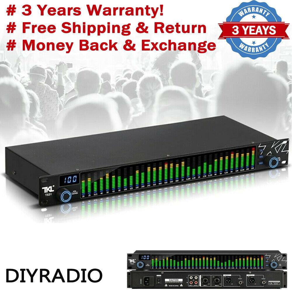 TKLT531 Digital Equalizer EQ Noise Reduction w/Spectrum Display 31 Bands For KTV