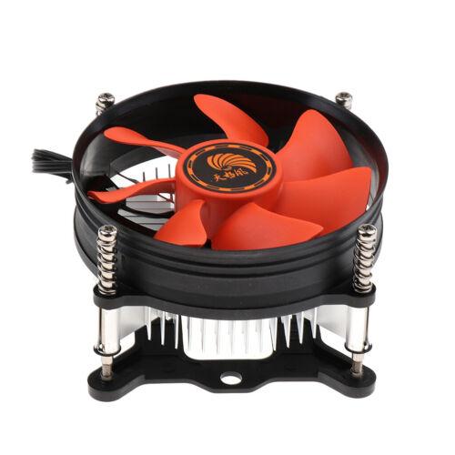 1Pcs Quiet Cooling Fan CPU Cooler Fans Heatsink for Intel 1155//1156 //1150