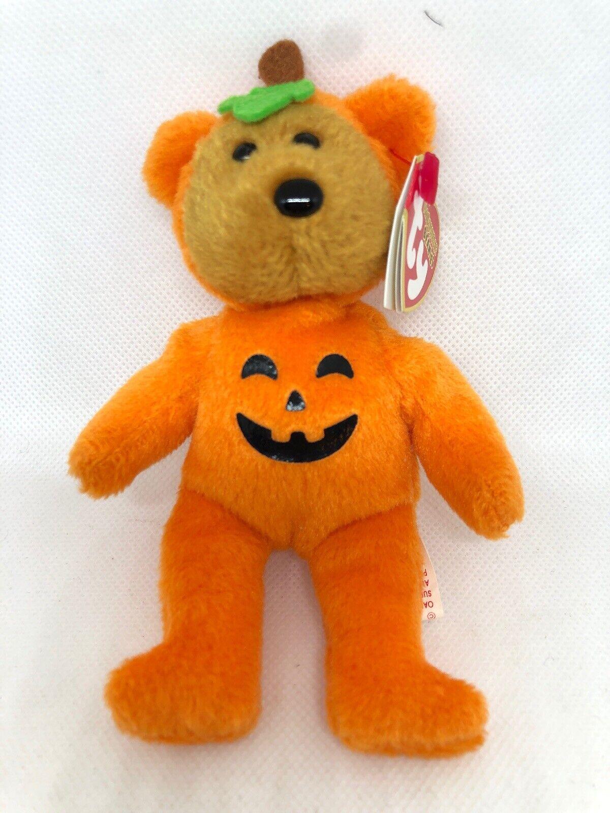 5 Inch MWMT Ty Halloweenie Beanie Baby ~ TREATSIES the Bear