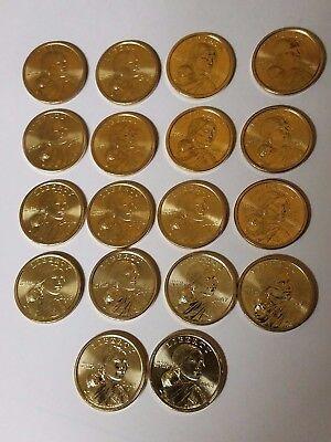 First Half Sacagawea Native American Dollars 18 Coins 2000-2008 P/&D BU UNC!