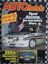 auto hebdo 1982 RALLYE MONTE CARLO / MERCEDES 500 SEL AMG / PIRONI / VAUCARD