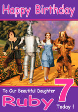 Personalised wizard of oz mothers day card ebay item 7 personalised wizard of oz birthday card 2 any name age relatve personalised wizard of oz birthday card 2 any name age relatve bookmarktalkfo Images