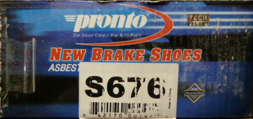 676 FITS VEHICLES LISTED ON CHART BRAND NEW PRONTO BRAKE SHOES S676