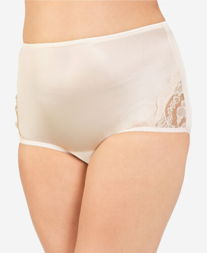 NWT Vanity Fair Perfectly Yours Lace Nouveau Brief Lace 13001 Nylon Panty 6-12