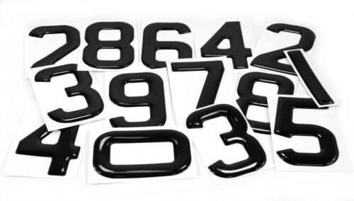 3d gel number plates Black Domed Resin Making Letter T DIY Registration UK REG