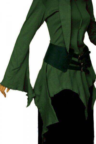 Gothic Medioevo Goa Psy estremità SHIRT SHIRT SHIRT Giacca Hoodie Top verde 36 38 S M Nuovo 72d997
