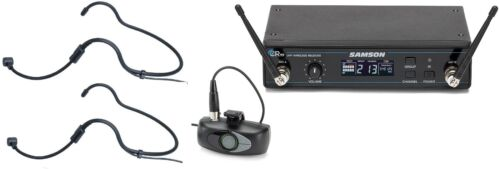 Samson Airline AHX Wireless UHF Headset System with 2 headsets ATX