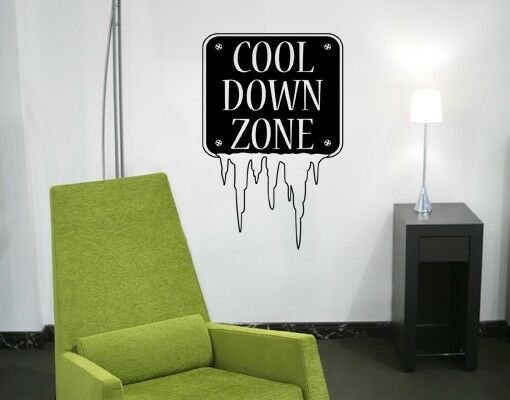 Cool Down Zone Sign  - highest quality wall decal stickers