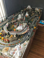 N  Scale Train Set With Table Model/Rail Road Layout