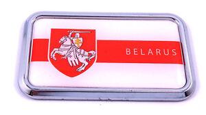Belarus-Flag-rectanguglar-Chrome-Emblem-3D-Car-Decal-Sticker-3-034-x-1-75-034