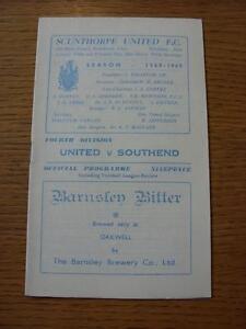 12051969 Scunthorpe United v Southend United - Birmingham, United Kingdom - 12051969 Scunthorpe United v Southend United - Birmingham, United Kingdom