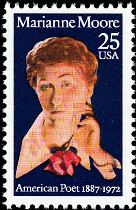 1990 25c Marianne Moore, American Poet Scott 2449 Mint