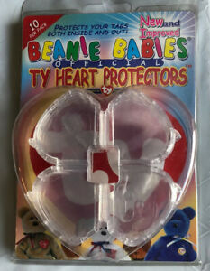 TY Beanie Babies Heart Tag Protectors Pack Of 10 Official Authentic Acrylic New!