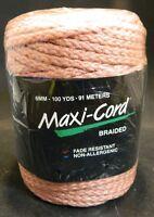 Macrame Maxi-cord Braided Polypropylene 6mm 100 Yards Pink Factory Sealed