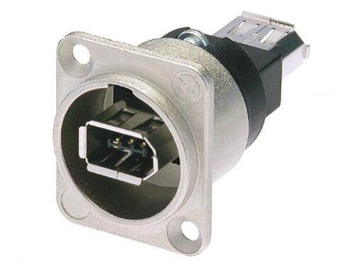 standard D-shape housing Neutrik NA1394-6 Firewire feedthrough