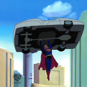 Warner Brothers Animated Series-Original Pro Cel Superman-Blast From The Past II