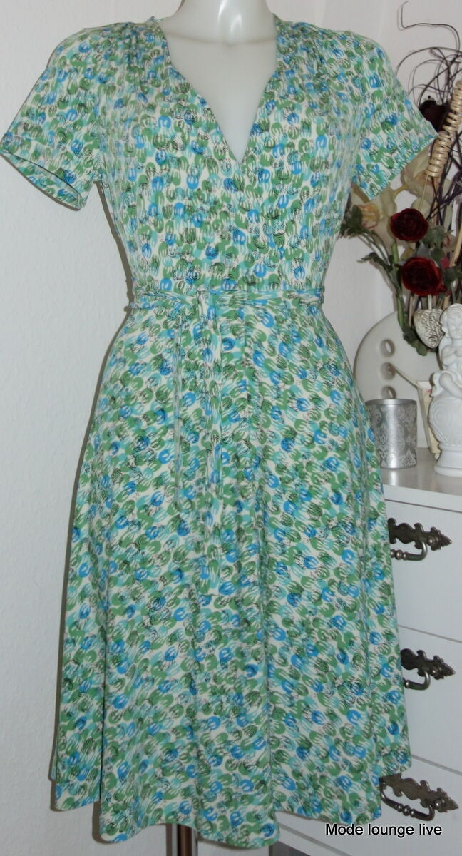 King Louie Vestido Lucille Vestido Coco green blue Retro Uvas 36 38 40 42