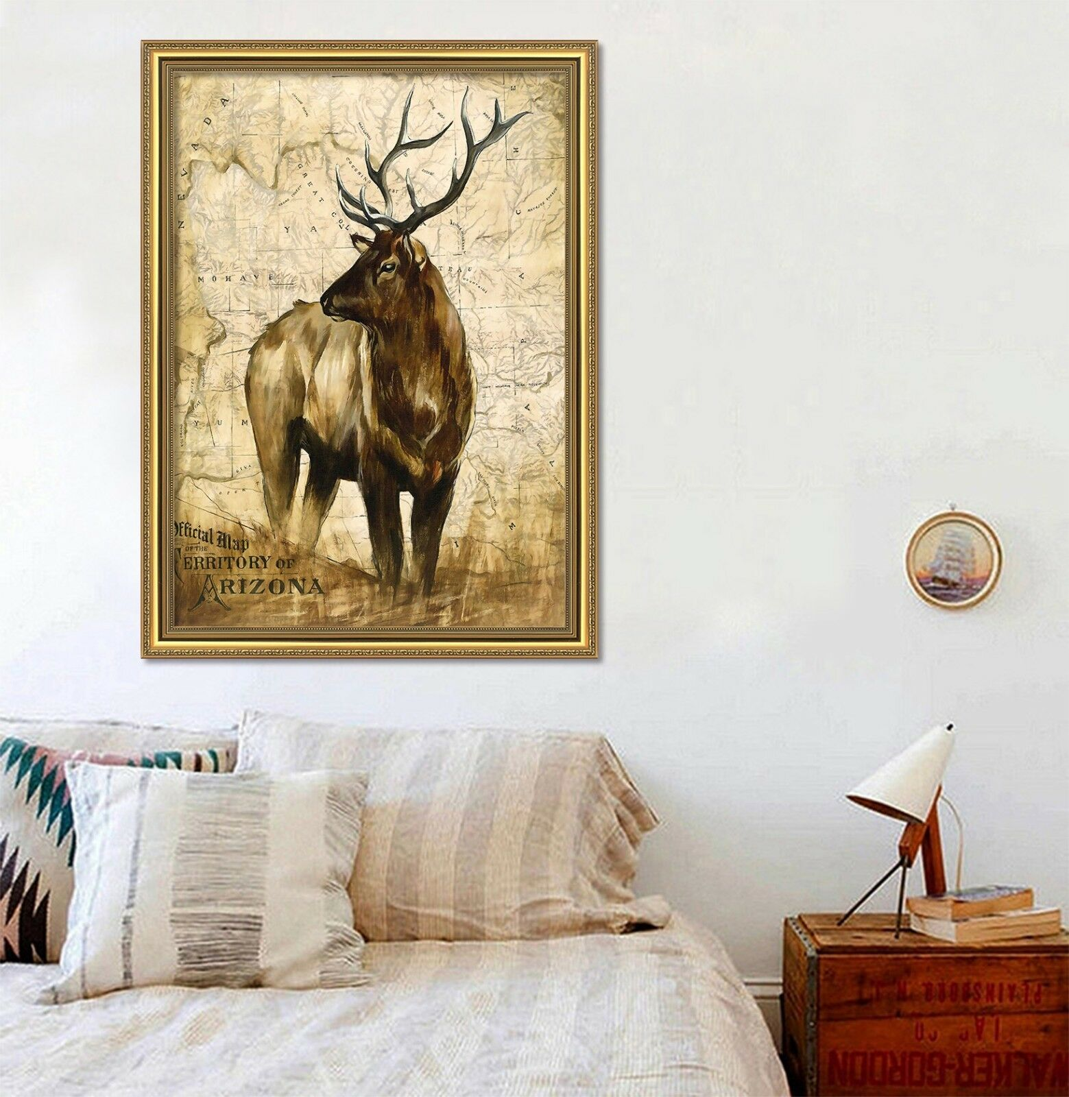 3D Paintings Deer 675 Fake Framed Poster Home Decor Drucken Painting Unique Kunst