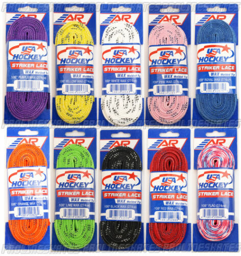 A/&R USA WAXED SKATE LACES VARIOUS COLOURS AND SIZES AVAILABLE