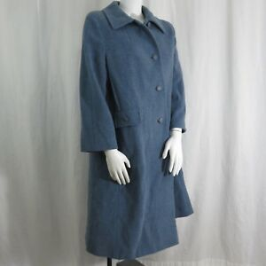 Vintage-Bromley-100-Wool-Coat-Steel-Gray-Blue-Size-16P-XL