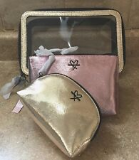 af0994783455 item 3 VICTORIAS SECRET Metallic Cosmetic Pouch Make up bag Trio Gold Pink  Set of 3 -VICTORIAS SECRET Metallic Cosmetic Pouch Make up bag Trio Gold  Pink Set ...
