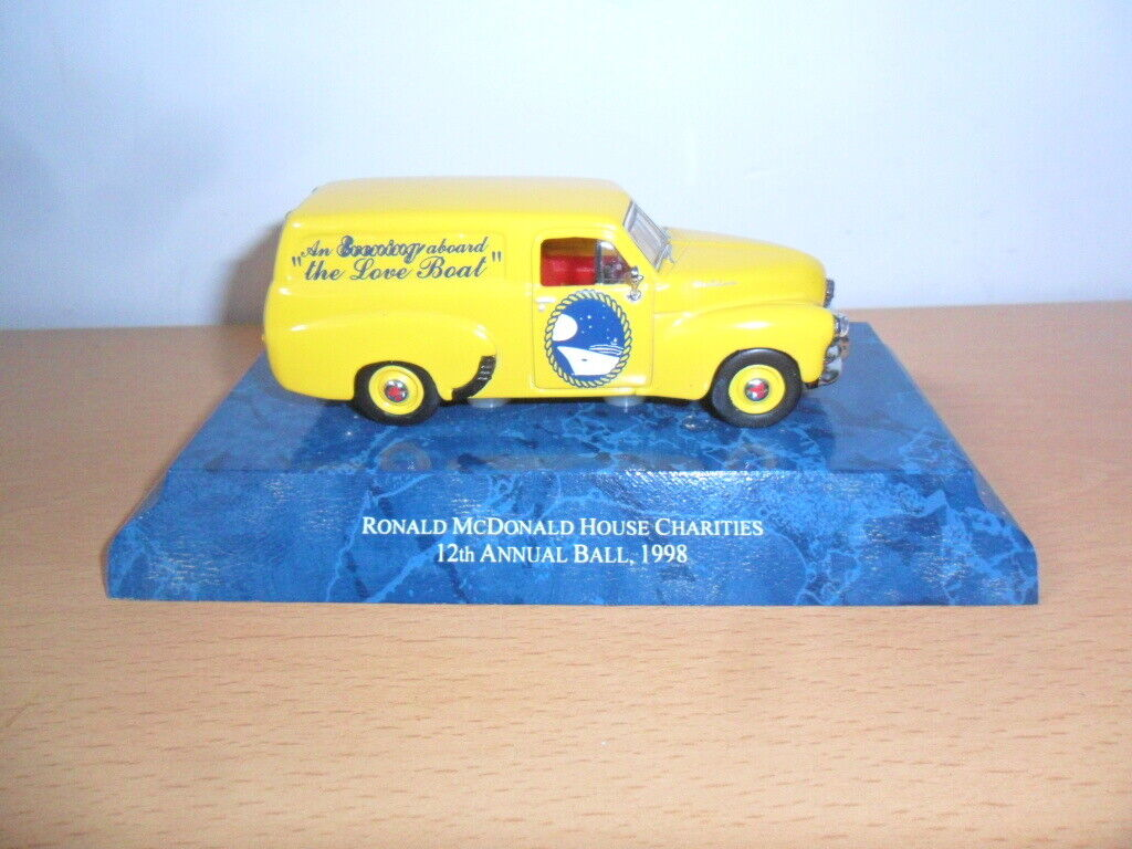 Models Of Yesteryear Holden Van Mcdonald Charity Ball '98 Date On Taligate