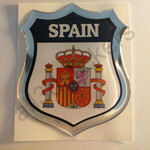 Pegatina-Espana-Escudo-de-Armas-3D-Emblema-Vinilo-Adhesivo-Resina-Relieve-Coche