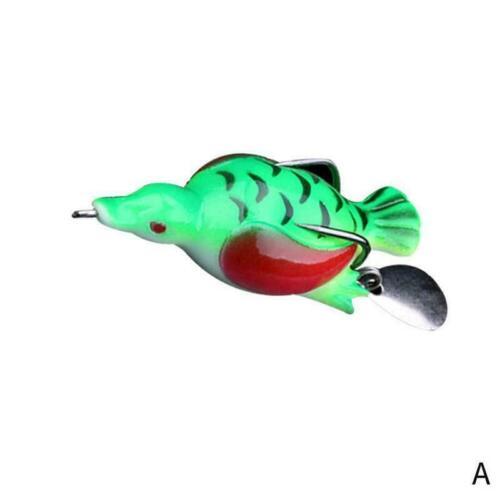 1Pcs Duck Fishing Bait Fishing Tackle Soft Lure Bait bait Crankbait Pike Cr Z4Y0