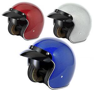 Reithelme & -schutzkleidung Reit- & Fahrsport-Artikel Viper Rs-04 Italien Offenes Gesicht Roller Motorrad Mod Retro Helm