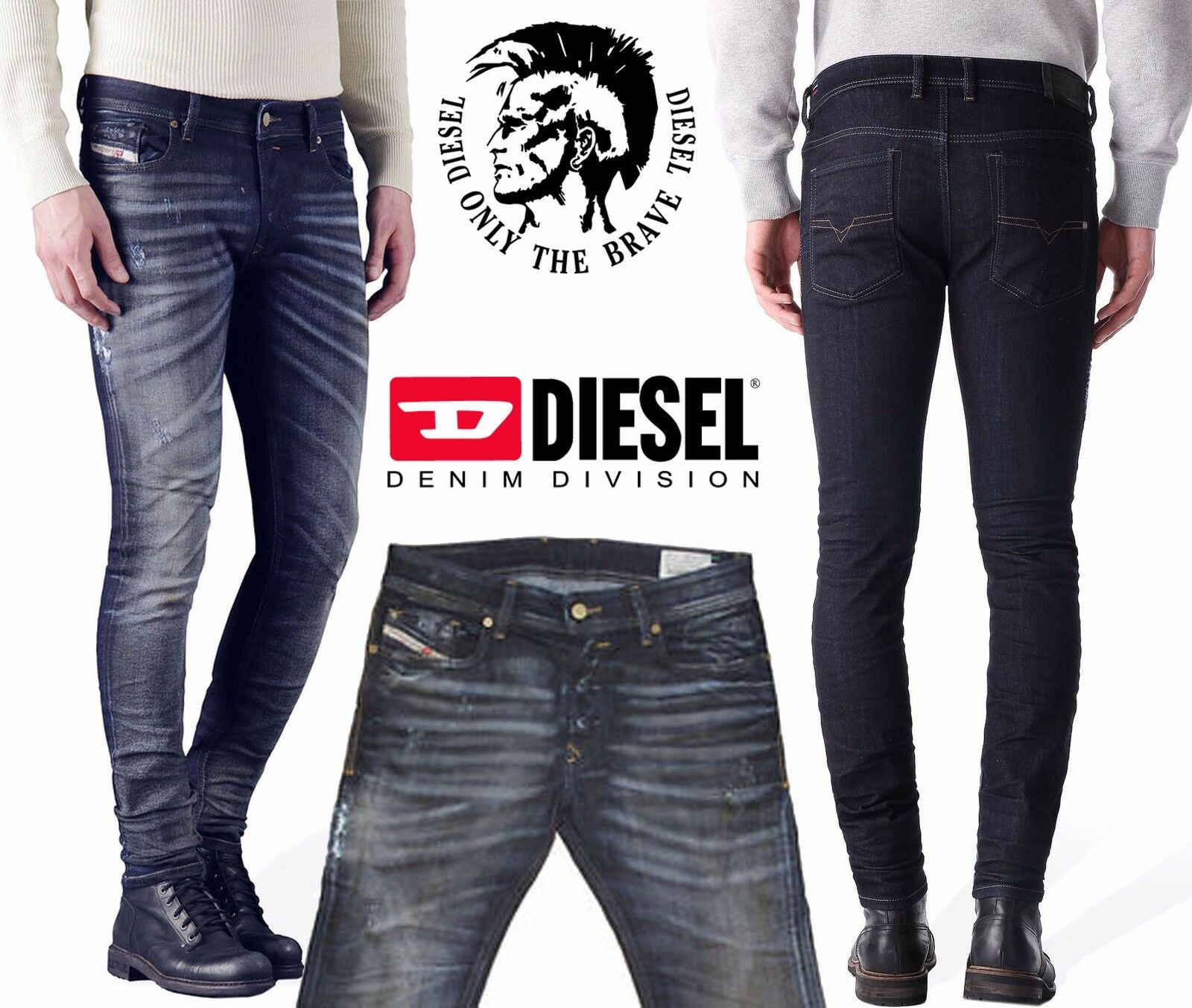 Diesel Men's Sleenker 0843Q Skinny Jeans