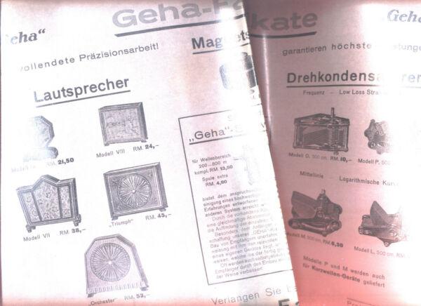"""""""geha Le Marche"""" Caricamento La Pubblicità Manifesto Per Altoparlanti & Drehko S Ca 1930 Qualità E Quantità Assicurate"""
