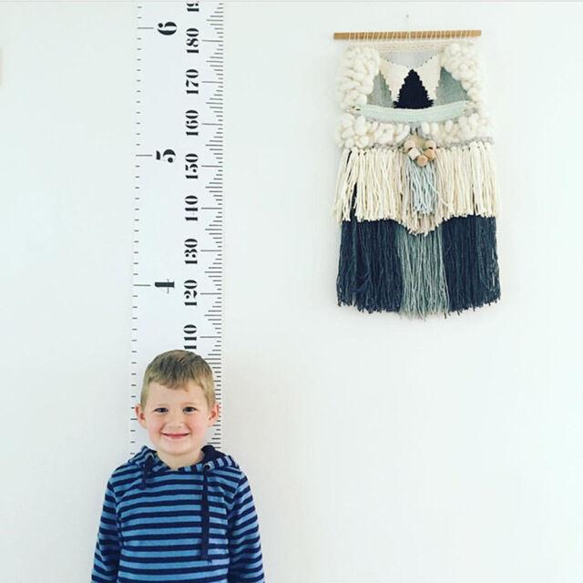 Wooden Kids Growth Chart Children Room Decor Wall Hanging Height