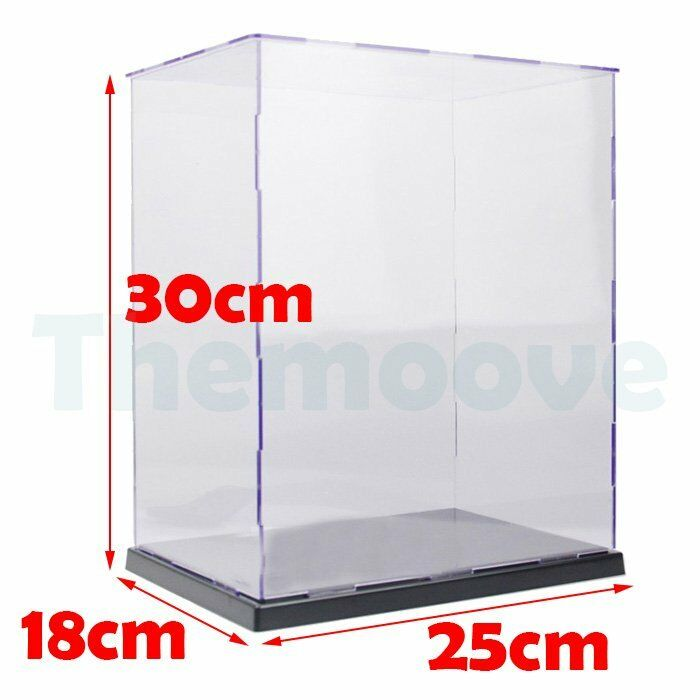Acrylic   Plastic Display Case Self-Assembly Box Dustproof Predection Toy 30cm