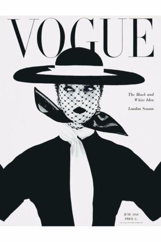 Heim Wand Kunstdruck A4,A3 Vintage Retro Magazin Poster Vogue 1950
