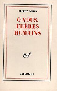 O-VOUS-FRERES-HUMAINS-ALBERT-COHEN