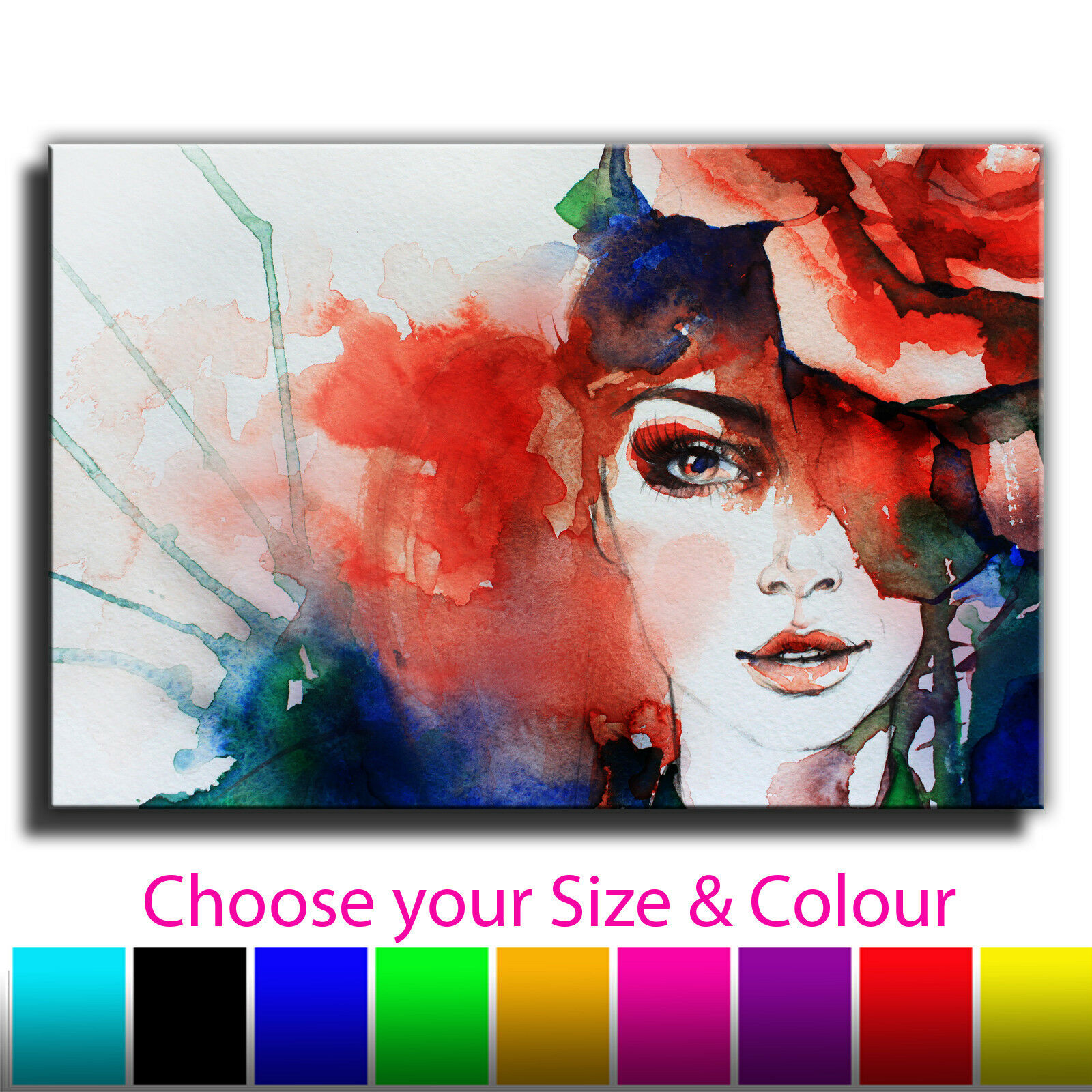 Abstract Woman Single Canvas Wall Art Picture Print 1i