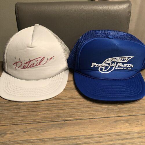 Lot of 2 Vintage Snapback Hats Trucker Hats