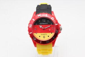 ASAMO-Silikon-Armbanduhr-Deutschland-Damen-Herren-EM-2020-WM-2022-Fanartikel