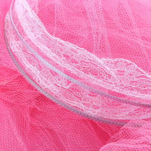 White Pink Blue Round Lace Curtain Dome Bed Canopy Netting Princess Mosquito Net