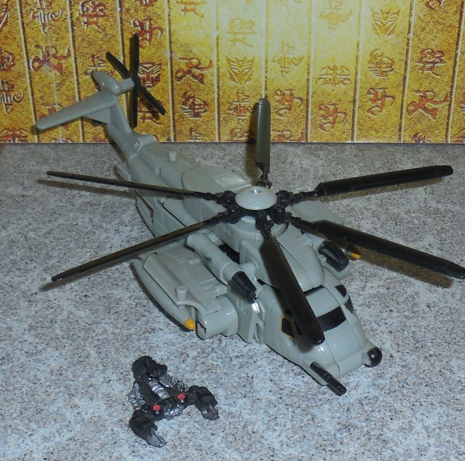 Transformers Revenge Of The Fallen GRINDOR Complete redf Voyager Helicopter