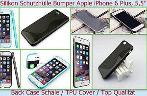 Case Hülle Silikon Cover Apple iPhone 6S Plus 6S+ Bumper Tasche Slim Schale Etui
