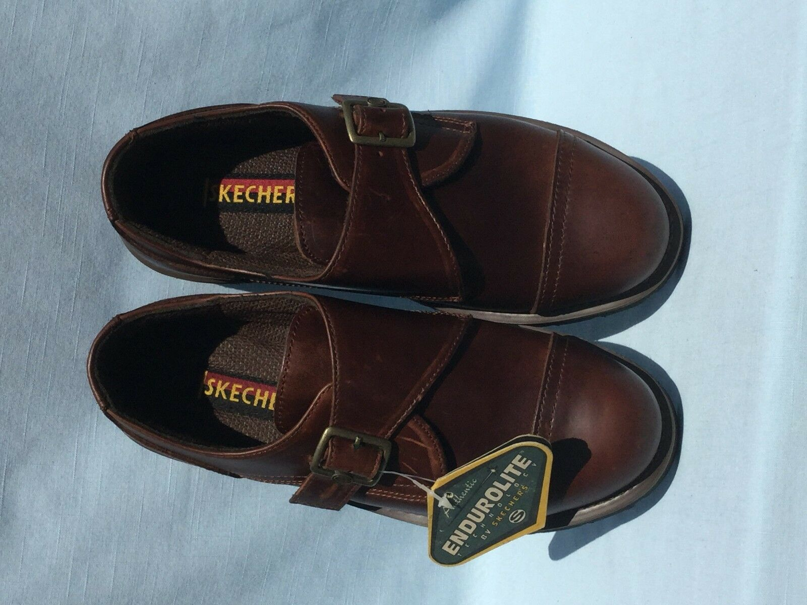 Vintage Discontinued 1990s Skechers Endurolite 7065/BRAN Discontinued Vintage  Uomo Größe 9 Read AD bb2252